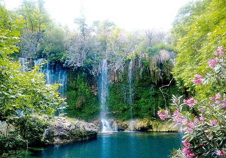 Duden Waterfalls i Antalya, Turkiet.