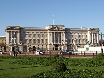 Buckingham Palace i London.