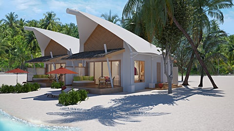 Illustration. Platinum Beach Bungalow.